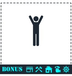 Man icon flat vector image