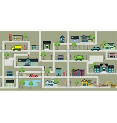 Map city streets vector