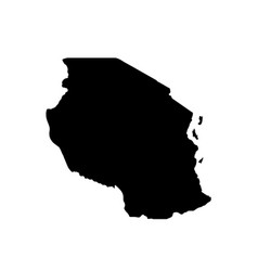 map tanzania isolated black vector image