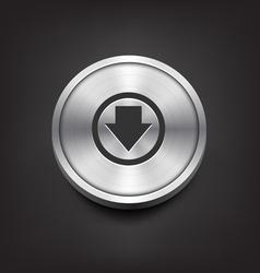 Metal Download Icon vector image vector image