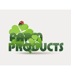 Natural Organic food concept icon vector