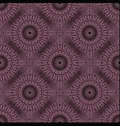 Oriental seamless mandala mosaic ornament pattern vector
