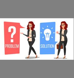 Problem concept thinking woman problem vector