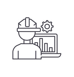 production automation line icon concept vector image