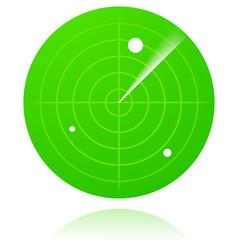 Radar screen isolated vector