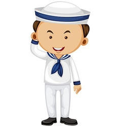 Sailor in white uniform vector