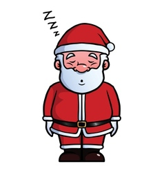 Santa Claus sleeping and snoring vector