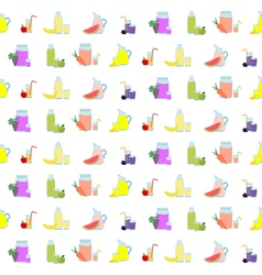Seamless pattern with Fruit Juice Icons vector image vector image