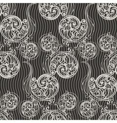Seamless swirls background vector