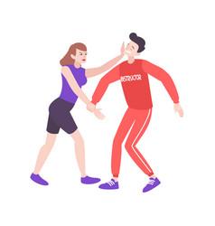 Self defense training composition vector