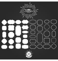 set frames for vintage logos vector image