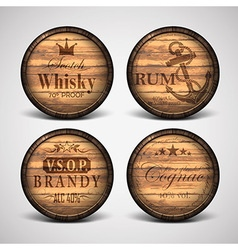 Set of of covers casks vector