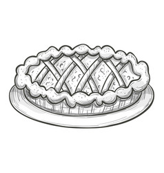 sketch pie on a white background vector image