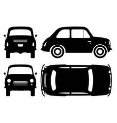 small retro car black icons vector image