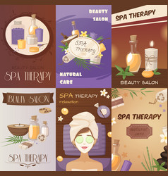 spa therapy and beauty cartoon posters vector image