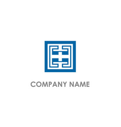 square maze geometry logo vector image