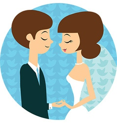 Sweet wedding vector image