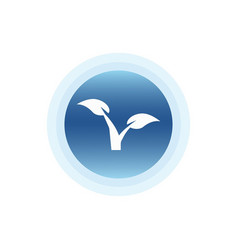 tree nature ecology icon vector image