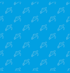 turtle pattern seamless blue vector image