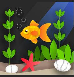 underwater world and sea creatures vector image