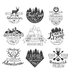 Vintage Forest Stamps Set vector