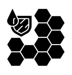 Waterproofing membrane glyph icon vector