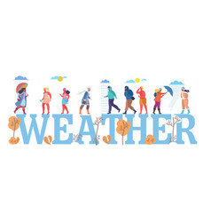 Weather concept flat style design vector