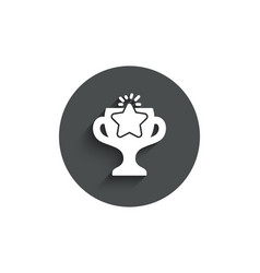 winner cup simple icon sport trophy vector image