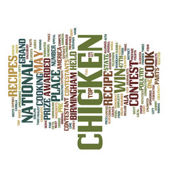 Your chicken recipe could win text background vector