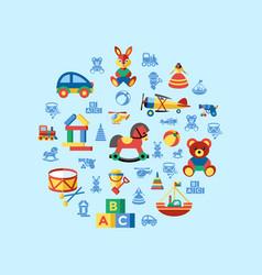 digital blue yellow children vector image