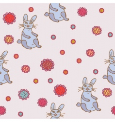 hare flowers vector image vector image