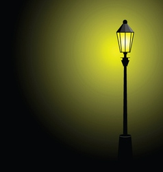 street lamp color vector image