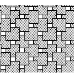 The pattern of squares checkered vector image vector image