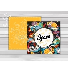 banner of space vector image vector image