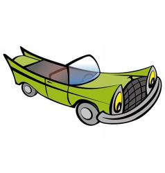 Funny old car cartoon vector image vector image