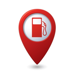 gas station red map pointer vector image