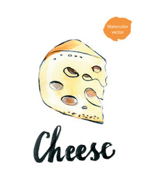 perfect pieces of swiss cheese vector image vector image