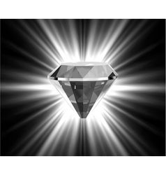 Shiny bright diamond vector image vector image
