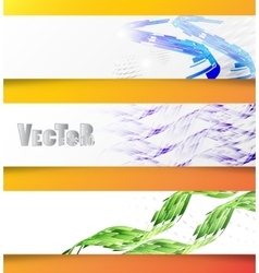 Abstract banner 01 vector image vector image