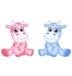 baby cows vector image vector image