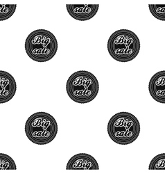 Big sale icon in black style isolated on white vector image vector image