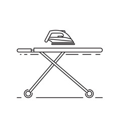 ironing clothes by iron vector image vector image