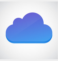 Cloud 3d glossy icon symbol vector
