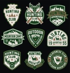 Hunting and outdoor themed badges and emblem colle vector