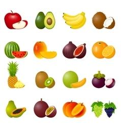 Icon Set Fruits vector image