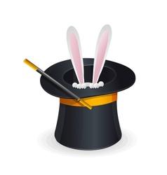 Magic hat and rabbit vector image