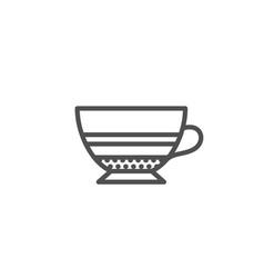 Mocha coffee icon hot drink sign vector