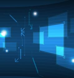 modern interface button vector image vector image