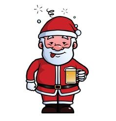 Santa claus being drunk vector