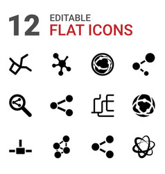 12 share icons vector image